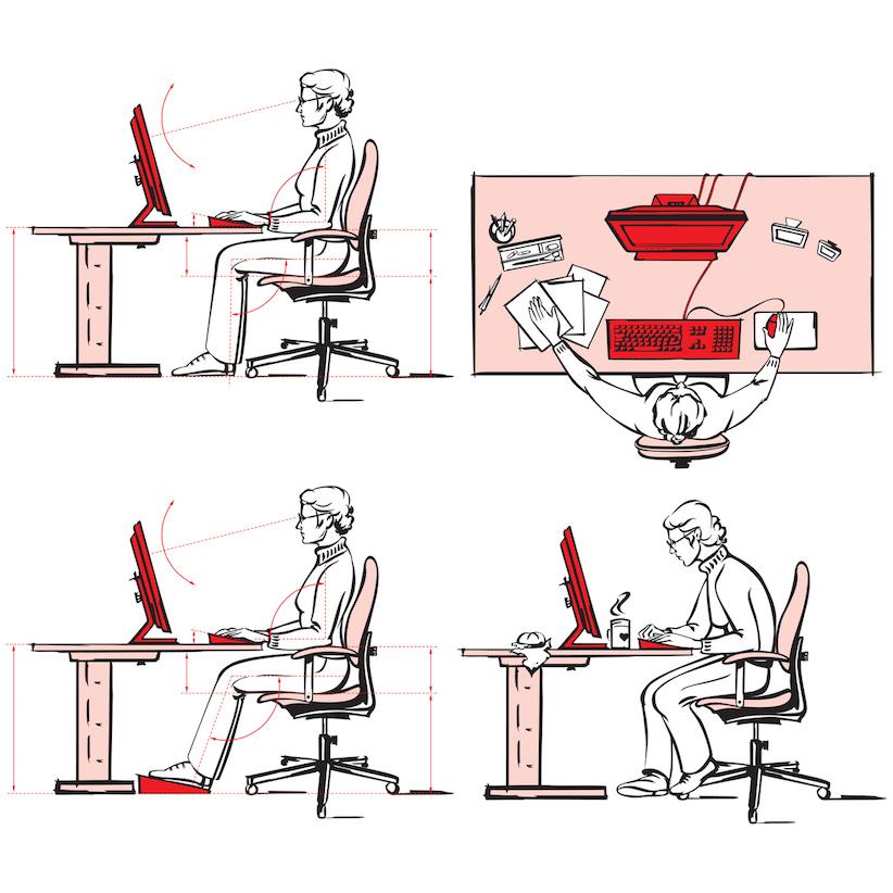 gesundheit und ergonomie am arbeitsplatz r cken und nackenschmerzen. Black Bedroom Furniture Sets. Home Design Ideas